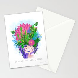 Juntas, we all grow. Stationery Cards