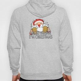 Merry Drunk I'm Christmas Santa Claus Beer Hoody