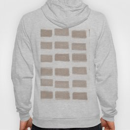 Brush Strokes Horizontal Lines Nude on Off White Hoody