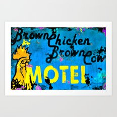 Brown Chicken Brown Cow Art Print