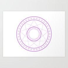 Anime Magic Circle 7 Art Print