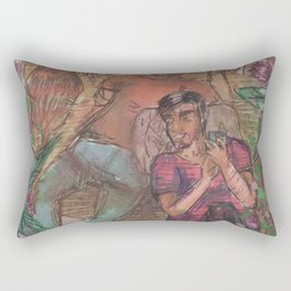 gay and tropical Rectangular Pillow