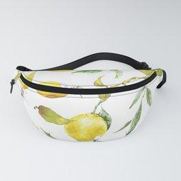 Watercolor lemons 8 Fanny Pack