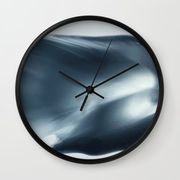 Monochromatic Ink Wave Square Wall Clock