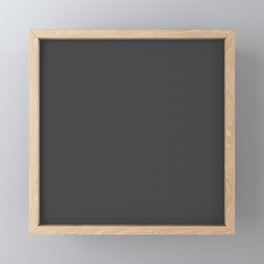 Black & Grey Simulated Carbon Fiber Framed Mini Art Print