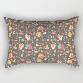 Baby fox pattern 04 Rectangular Pillow