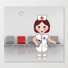 Jobs serie: the nurse Canvas Print