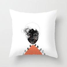 Moonrise mountain (mother earth cries) Throw Pillow