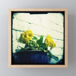 Golden flowers Framed Mini Art Print