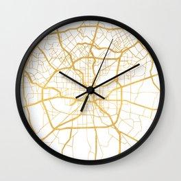 SAN ANTONIO TEXAS CITY STREET MAP ART Wall Clock