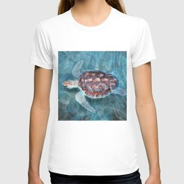 Sea Turtle In The Waves T-shirt