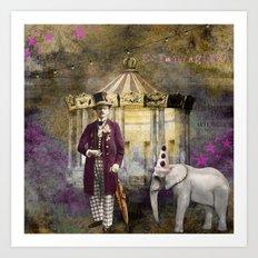 Circus king  Art Print