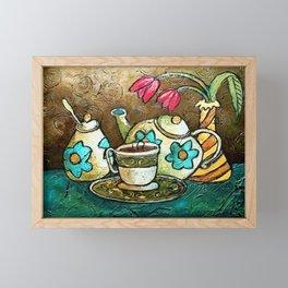 Tea and Tulips Framed Mini Art Print