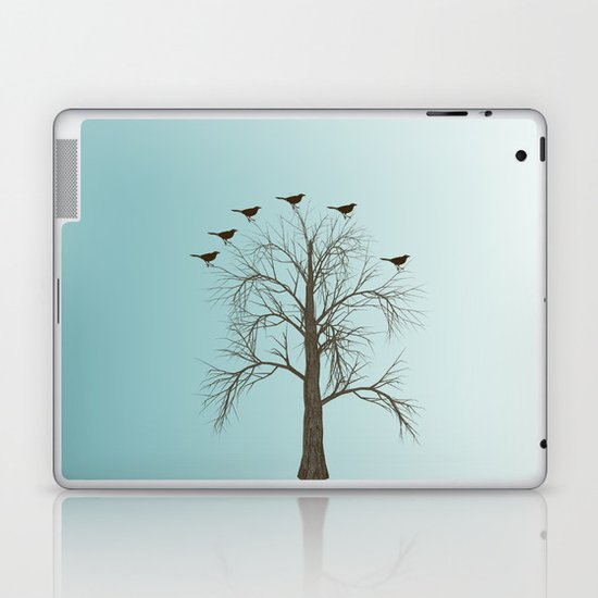 Tree with Birds Laptop & iPad Skin