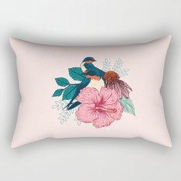 Barn Swallows Rectangular Pillow