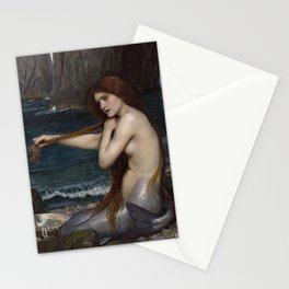 A MERMAID - WATERHOUSE Stationery Cards