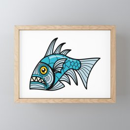 Escher Fish pattern I Framed Mini Art Print