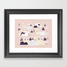 Lumihattara Framed Art Print