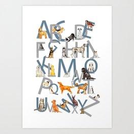 Dog Breed Alphabet Art Print