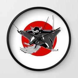 Flying (ninja) Squirrel Wall Clock