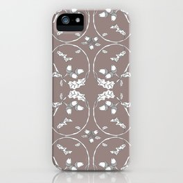 Acorns and ladybugs cocoa pattern iPhone Case