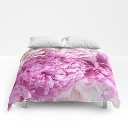 Pink Peonies Shabby Chic Cottage Peonies Comforters