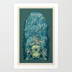 s'accrocher à l'amour Art Print
