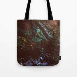 Forest Wall Dark Fairy Landscape Tote Bag
