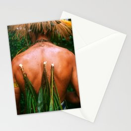 Back Of Villager Adorned For Papua New Guinea Sing Sing Stationery Cards