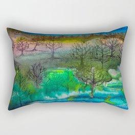 A Walk with Trees Rectangular Pillow