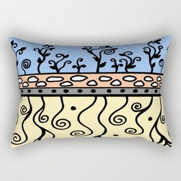 Strong Roots for Growth - Blue Mustard Yellow Rectangular Pillow