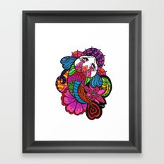 Koi Zentangle Framed Art Print