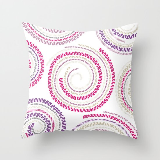 Mosaic Swirls Throw Pillow