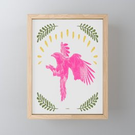 Pink Falcon Framed Mini Art Print