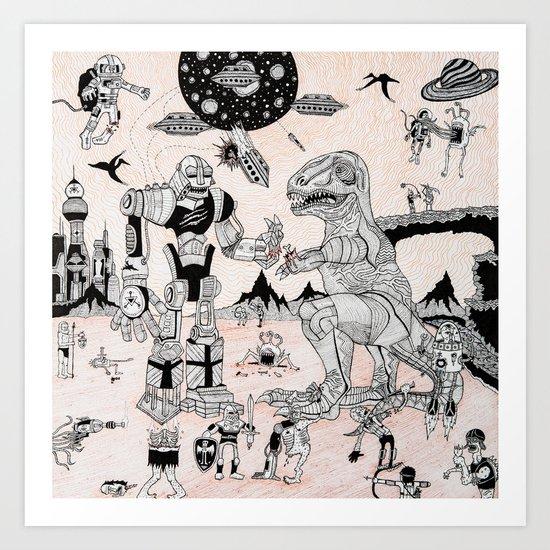 War of the Worlds (man-child edition)...original Art Print
