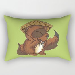 Tanuki Trickster Rectangular Pillow