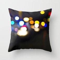 New York Lights Throw Pillow