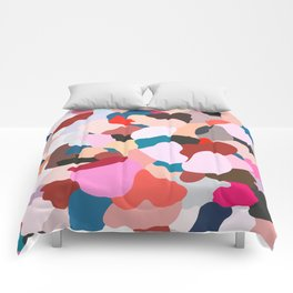 petals: abstract painting Comforters