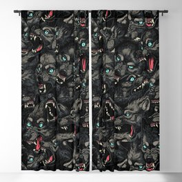 Wolf Pack Pattern Blackout Curtain