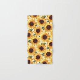 Happy Yellow Sunflowers Hand & Bath Towel
