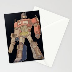 Optimus Black Stationery Cards