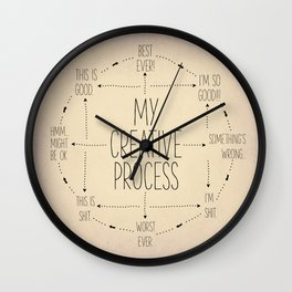 My Creative Process Wall Clock