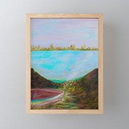 A Boat and a Seamless Sky Framed Mini Art Print