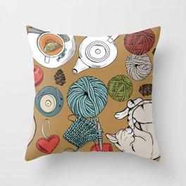 home cosiness Throw Pillow