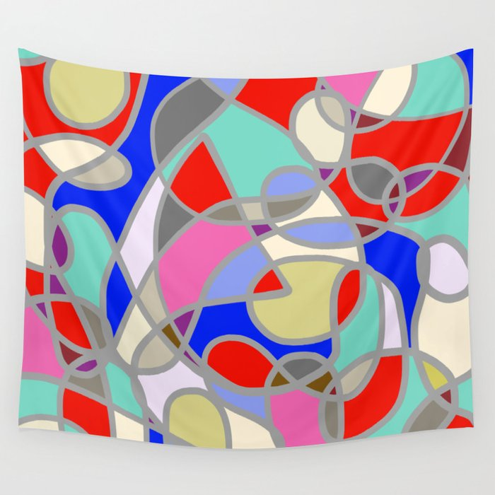 Stain Glass Abstract Meditation Painting 1 Wall Tapestry