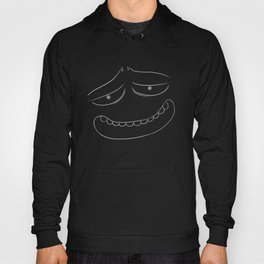 A Good Face That Loves You (white on black) Hoody