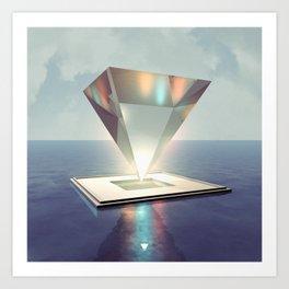 GLASS PYRAMID - ∀ Art Print
