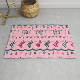 Christmas Decor - Pink Rug