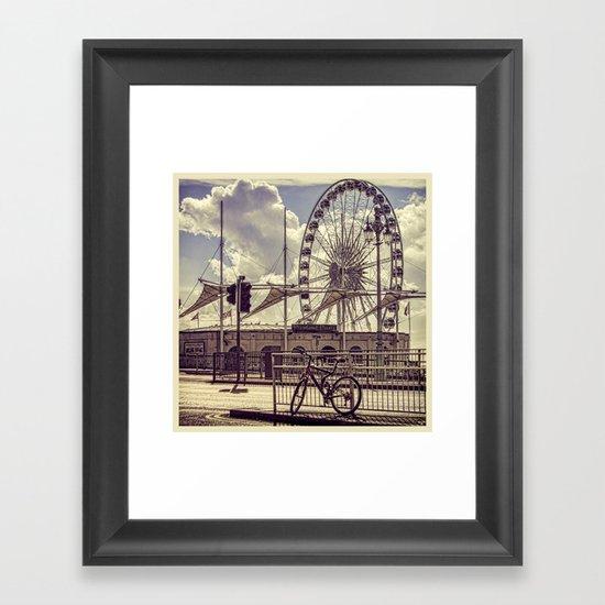 The Brighton Wheel Framed Art Print