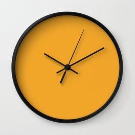 Kumquat Orange Monochrome Design Wall Clock